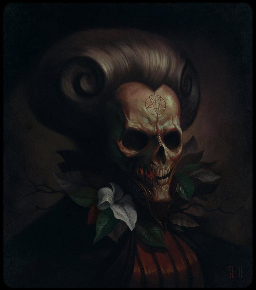 skull, dark art, scary, creepy, witchcraft