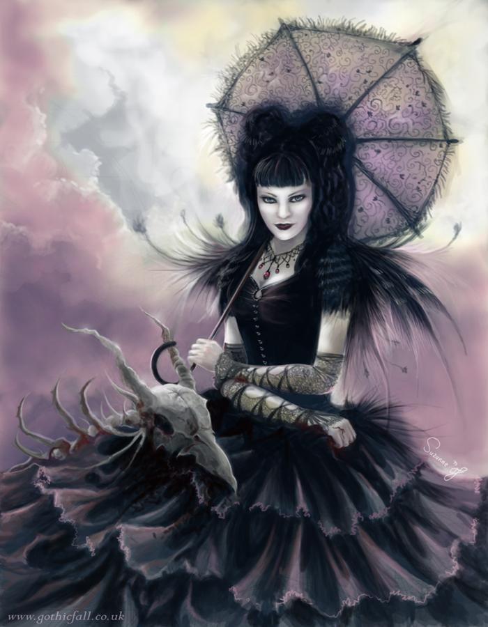 dark beauty, scary, death, dark art, girl
