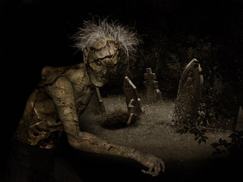 zombie, dark, scary, graveyard, creepy