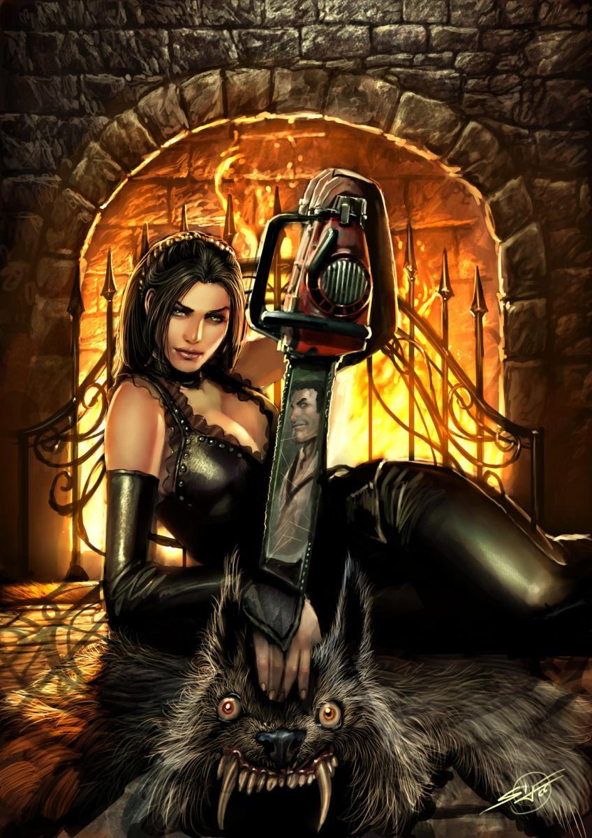 dark art, girl, grave