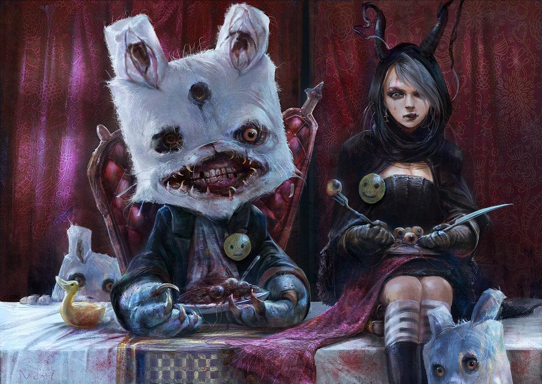 creepy, dark art