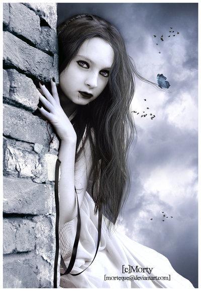 dark beauty, girl, dark art