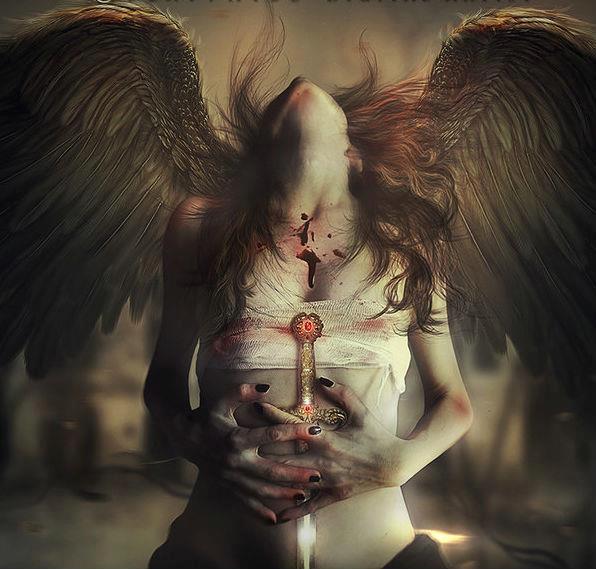 dark art, evil, creepy, death, girl
