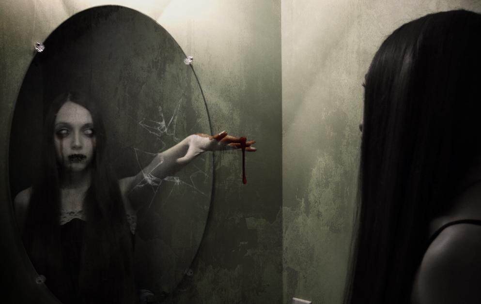 Reflection, Mirrors, dark world, scary, girl