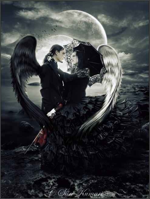 Gothic Love couple Wallpaper : Gothic Romance - Kechake Dark Picture Lover of Darkness
