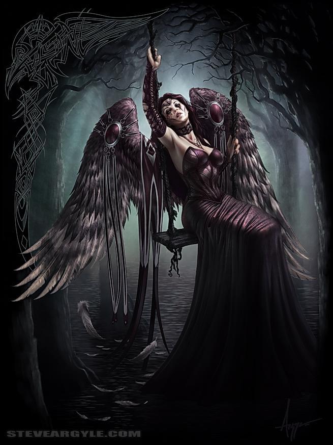 Sad Angel number 6,254,957,314 - SteveArgyle | Dark ...