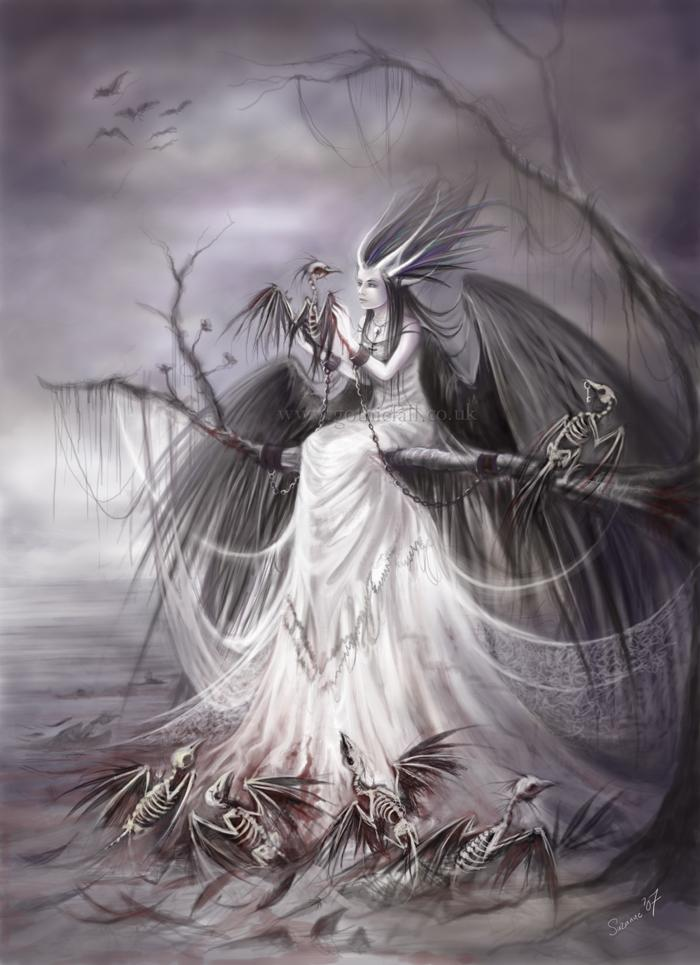 curse, angel, shadow, dark art, dark world
