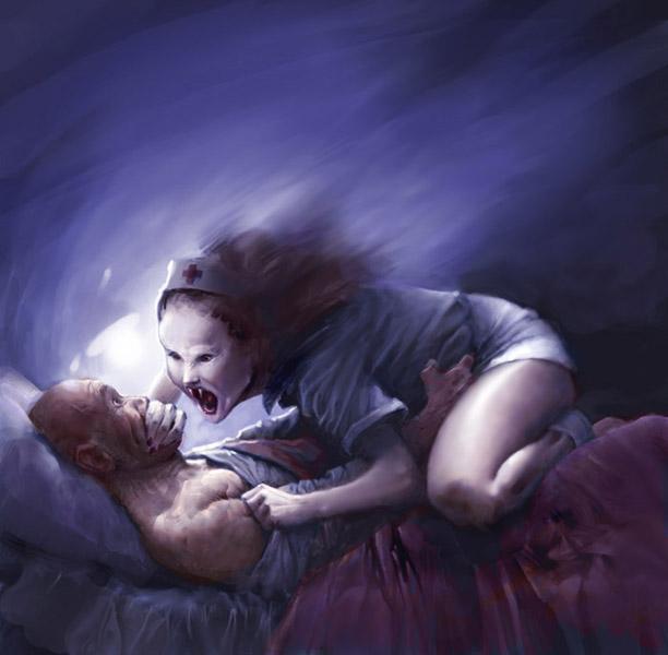 scary, demon, sleep, hush