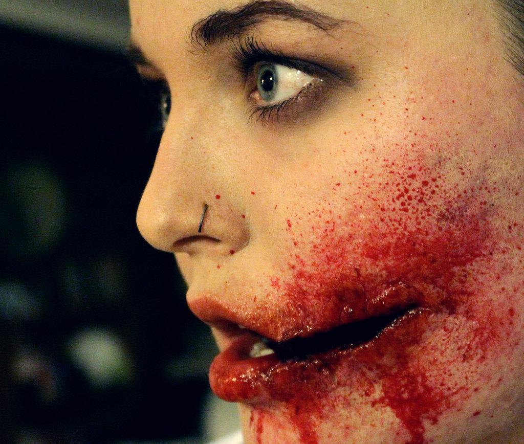 girl, gothic, cut, scar
