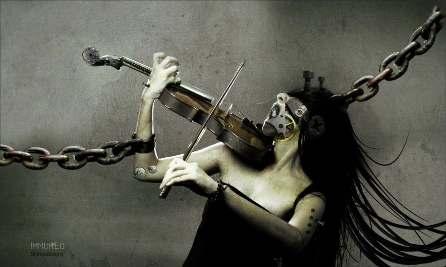 dark art, fantasy, sick, creepy, girl