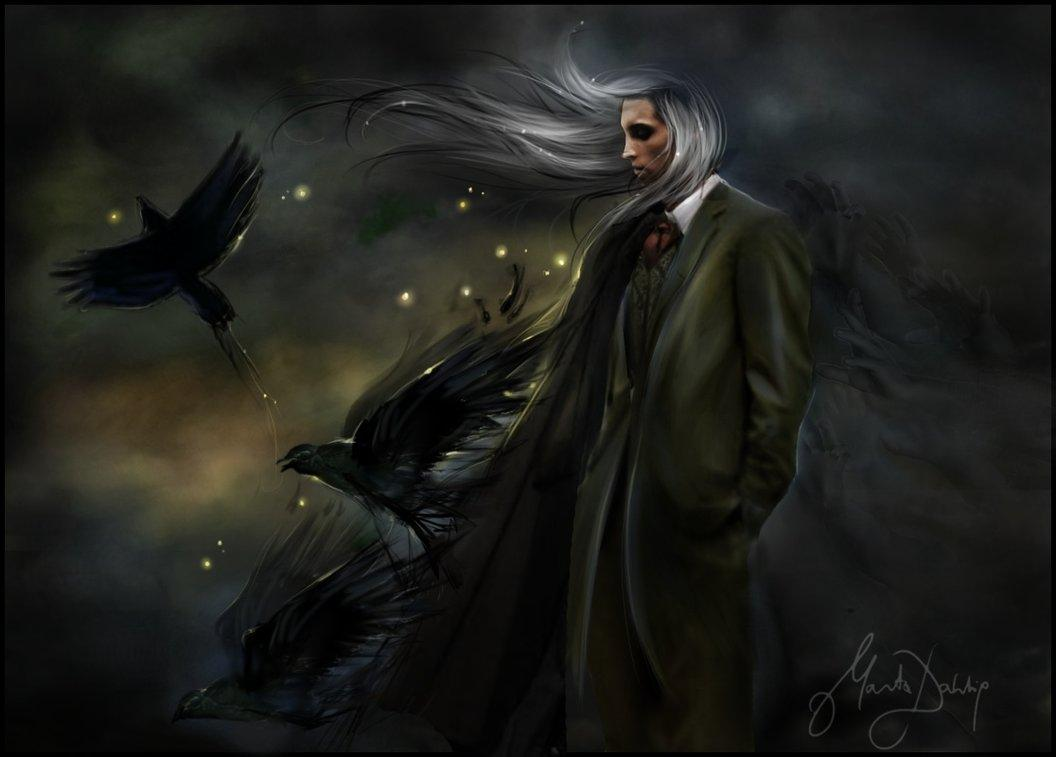 raven, darkness, night, dark world