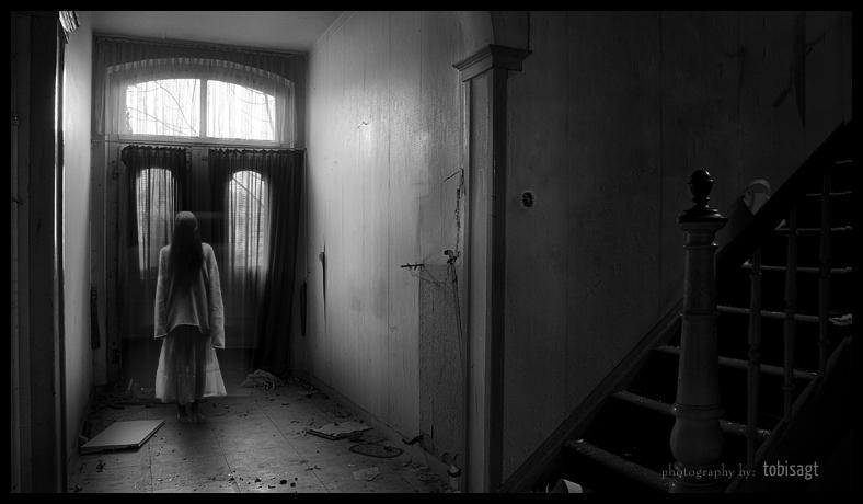 horror, house, girl, creepy