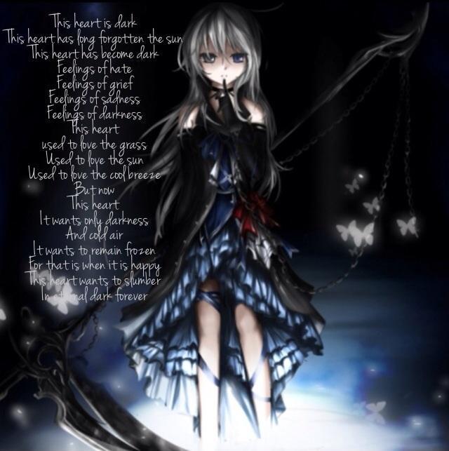 darkness, girl