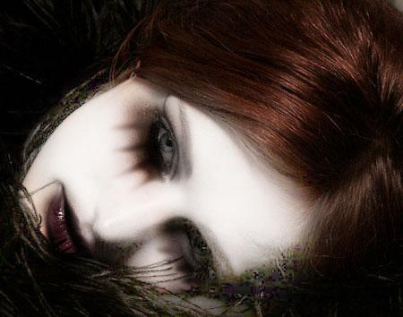 gothic, girl, sad beauty