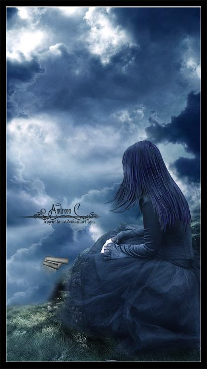 Girl, dark, alone, lost