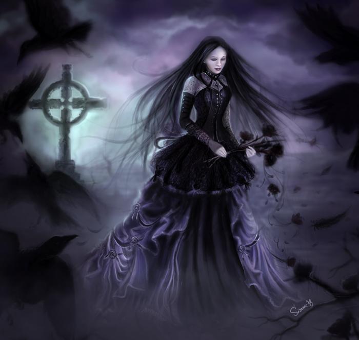 death, dark art, dark world, girl