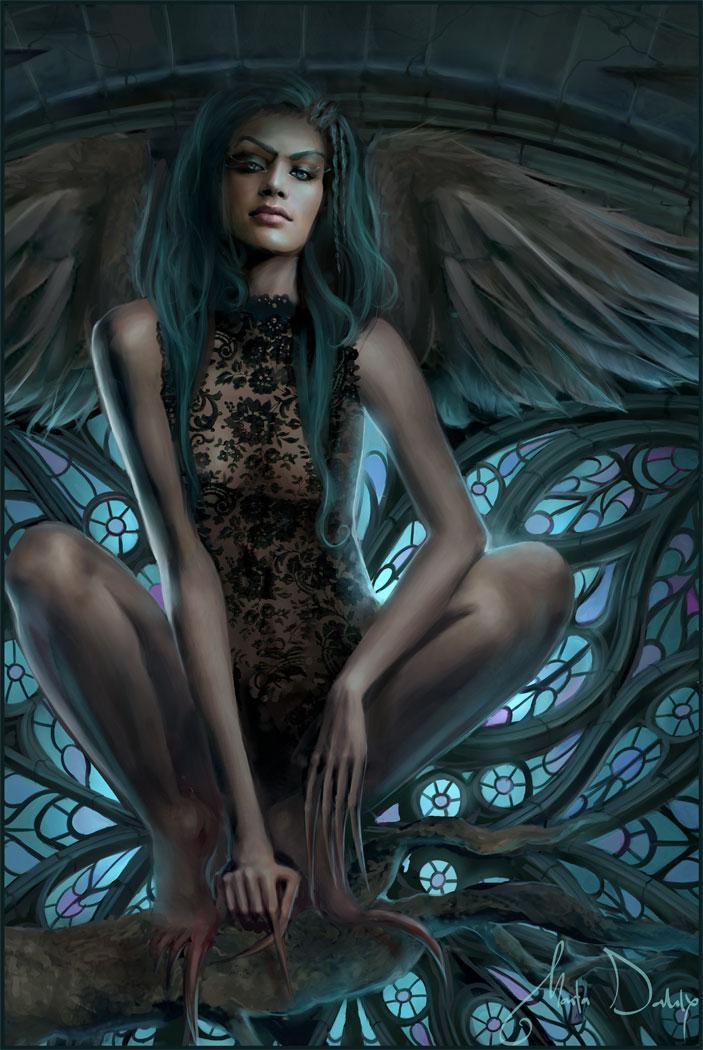 girl, fallen, dark beauty