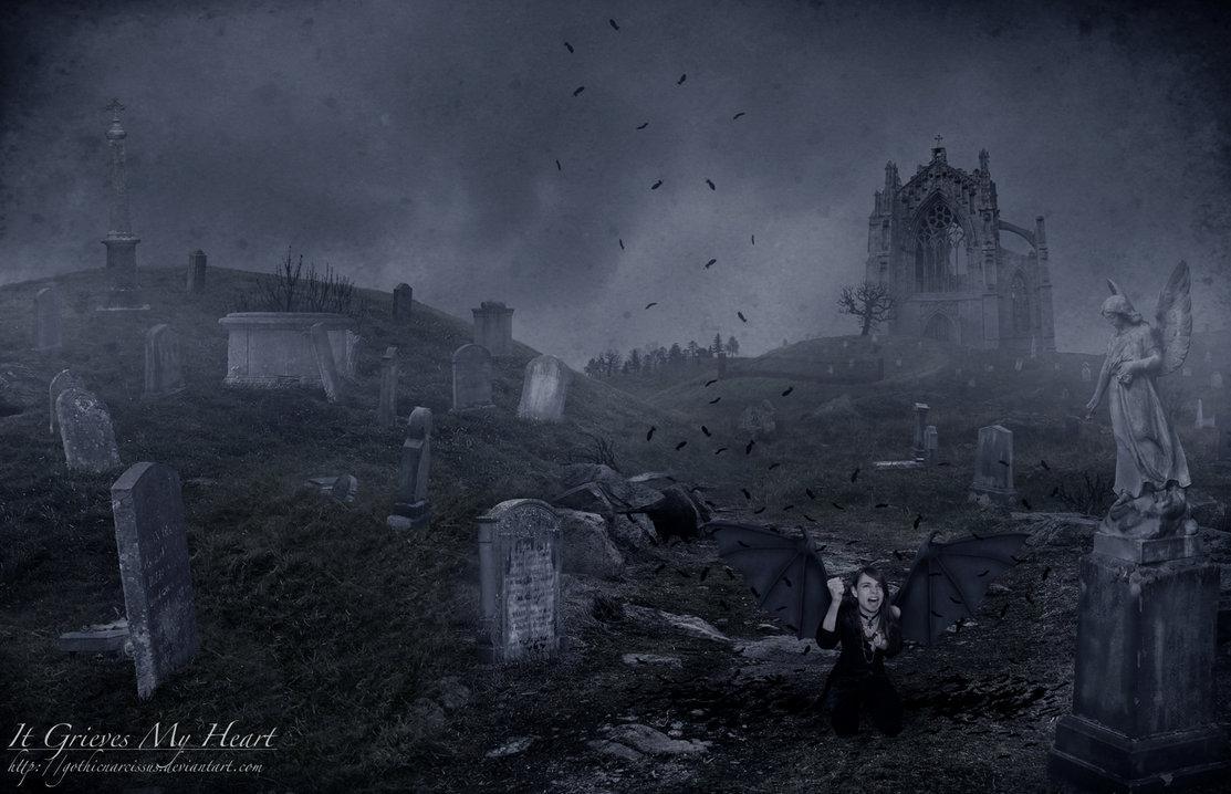 graveyard, angel, girl