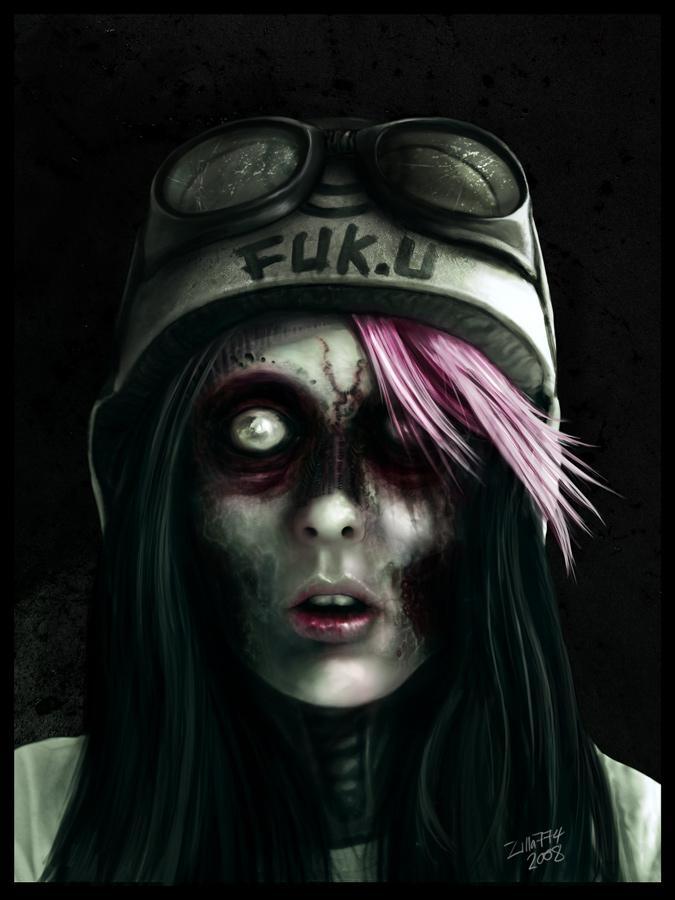 zombie, scary, dark, creepy, girl