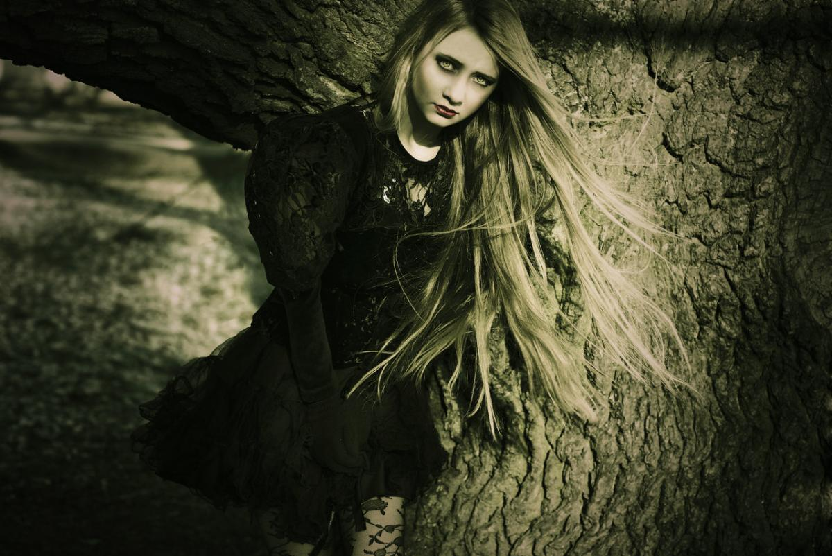 girl, gothic, dark art