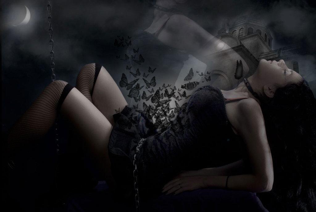 girl, gothic, dark beauty