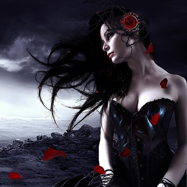 dark beauty, alone, gilr, lost