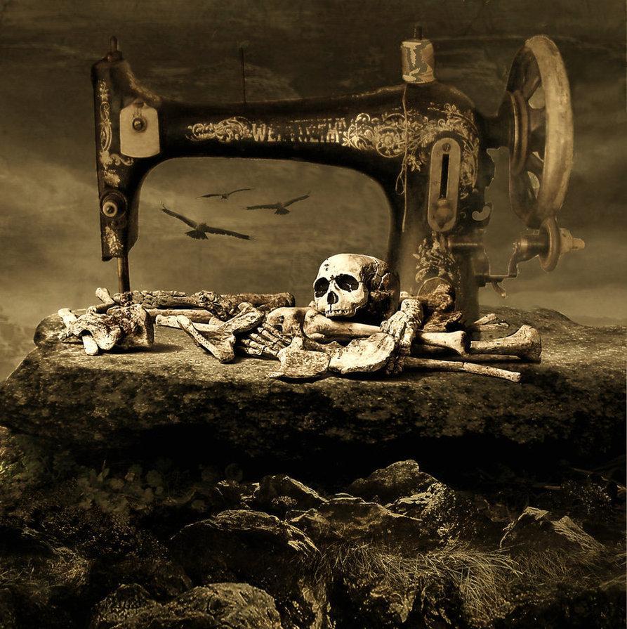 dark art, skull, creepy