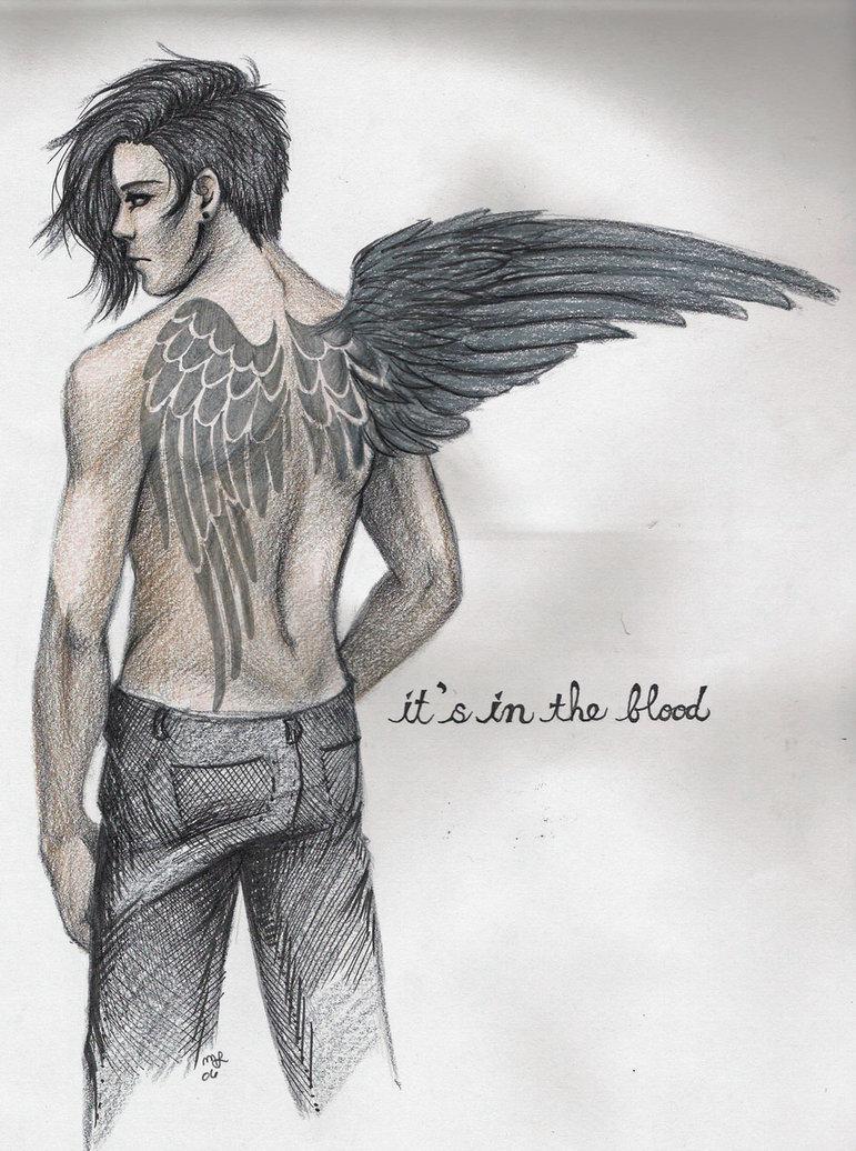 wings, angel, dark mind, dark art