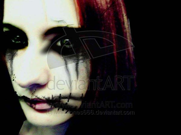 girl, gothic, scary