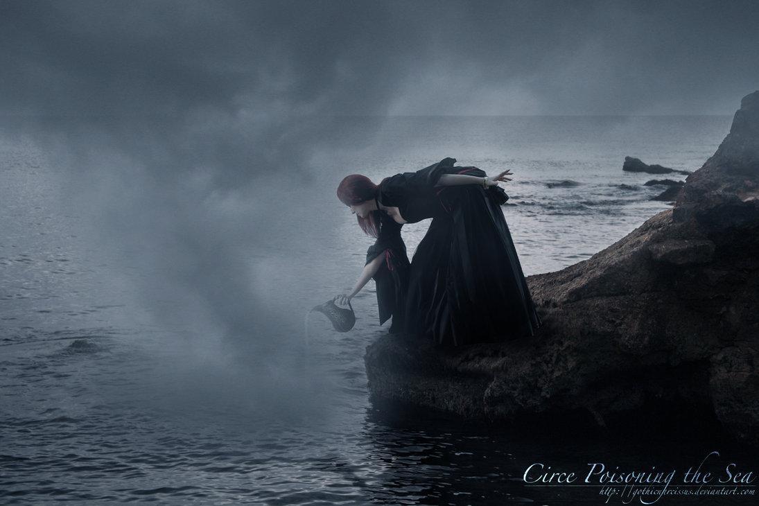 girl, sea, poison