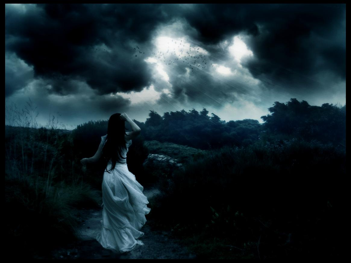 girl, sky, cloud,