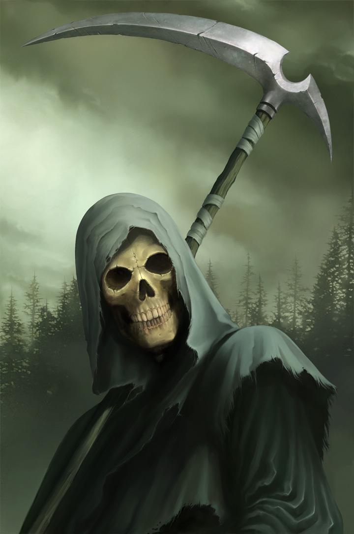 forest, death, skull, satan