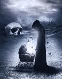 creepy, dark art, scary, death, darkness