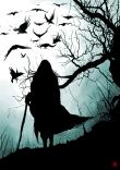 darkness, crow, creepy
